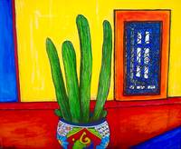 Talavera Pot with Cactus