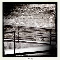Walk way and railing Art Prints & Posters by Michael Dzaman