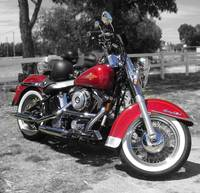 The Red Harley Davidson