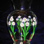 """Hand Painted Daisy Vase"" by luv4pix"