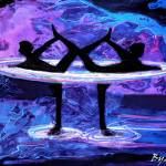 """Yoga Abstract"" by Spangles44"