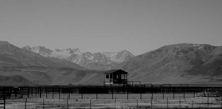 Bridgeport Corral & Sawtooth Mtns