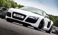 White Audi R8 V8 - Brands Hatch - Masters Historic