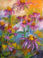 Purple Coneflowers Provencale Oil Painting Ginette