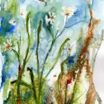 """Georgia Wildflower Wild Garlic Watercolor"" by GinetteCallaway"