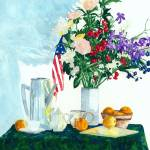 """Still Life With Flowers & Flag -Simple Pleasures"" by MarkOdland"
