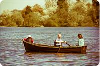 Boating on the lake at Hever Castle