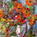 """Modern Poppy Still Life Oil Painting by Ginette"" by GinetteCallaway"