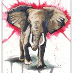 """Alabama Crimson Tide ""Charging Elephant"""" by berreyart"