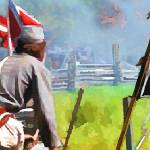 """Confederates holding ground"" by Pauljs"