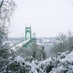 """Christmas at the St. Johns Bridge"" by zebandrews"