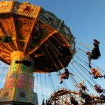 """Amusement Park Swings"" by raetucker"