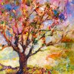 """Grandmother Apple Tree Oil Painting"" by GinetteCallaway"