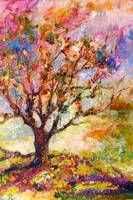 Grandmother Apple Tree Oil Painting