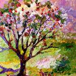 """Grandmas Apple Tree Oil Painting"" by GinetteCallaway"