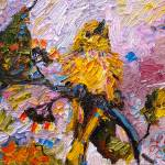 """Impressionist Oil Painting Little Yellow Bird"" by GinetteCallaway"