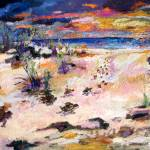 """Seaside Beach and Sunset w BabyTurtles"" by GinetteCallaway"