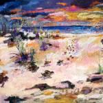 """Seaside Beach and Sunset w BabyTurtles"" by GinetteCallaway"