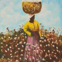 COTTON PICKER AFRICAN AMERIICAN Art Prints & Posters by Larry