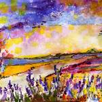 """Summer Landscape Provence Watercolor"" by GinetteCallaway"
