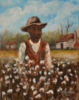 COTTON PICKER  AFRICAN AMERICAN    KIP HAYES