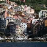 """Vertical Living in Riomaggiore"" by DonnaCorless"