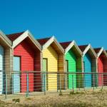 """Bright Beach Huts"" by ChrisBarry"