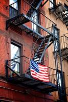 Fire Escapes of NY, New York City, USA