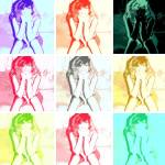 """Nude Pop Art Pinup"" by crazyabouthercats"