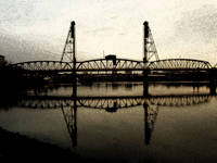 hawthorne bridge. portland, oregon