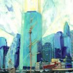 """South Street Seaport New York City"" by BeaconArtWorksCorporation"