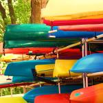 """Colorful Kayaks"" by PurpleSkyPhoto"