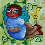 """A PEACEFUL BALANCE"" by saracatenacolorfulart"