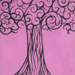 """Pink is the new black, sophisticated tree"" by PinkiDee"