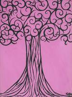 Pink is the new black, sophisticated tree