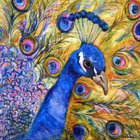 Prince Peacock, modern bird art