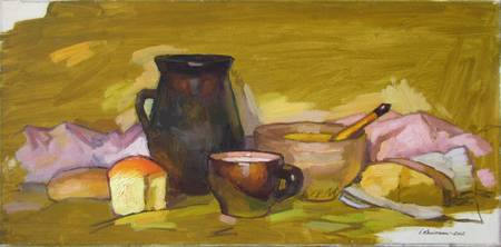 Still Life with Milk
