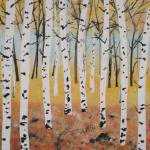 """Fall Birch Trees"" by Rachelheath"