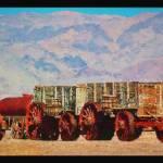 """""""Death Valley 20 Mule Team Train"""" by artstoreroom"""