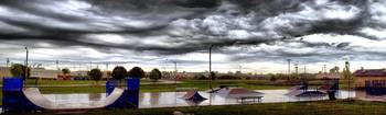 Owasso Skate Park (Large Panorama 3280x984) During