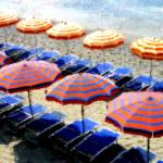 """Beach Umbrellas"" by marywhitmer"