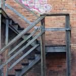 """Back Alley Stairs"" by raetucker"
