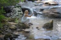 WHITE WATERFALL FAERIE