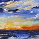 """Sunset Charleston South Carolina on Sullivan Islan"" by GinetteCallaway"