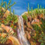 """Sabino Canyon Waterfall"" by BarbaraRedingStudios"