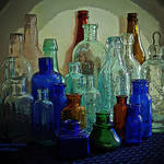 """Old Glass Bottles"" by EMBlairArtwork"