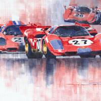 Ferrari 512 S 1970 24hours of Daytona Art Prints & Posters by Yuriy Shevchuk