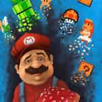 """8-bit Mushroom madness"" by Ajeyes"
