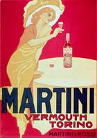 Poster advertising Martini Vermouth, Torino, 1900