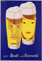 Poster advertising German Beer